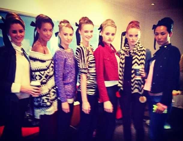 April 2013 - PPQ London runway show for Birtish Airways - Hair & Make Up by Lily Jackson Hair & Make Up Team