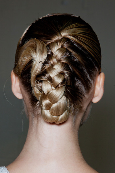 The Twist! A Braid Tucked Under at the Nape of the Neck to which the Fingerwave Connects! Again we See a Modern Twist to a Classic Hair Set!