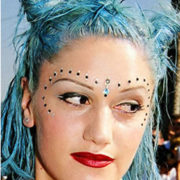 Gwen Stephani in blue hair