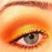 yellow to orange smokey eyes