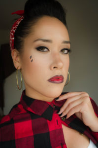 Chola Style Dress and Makeup
