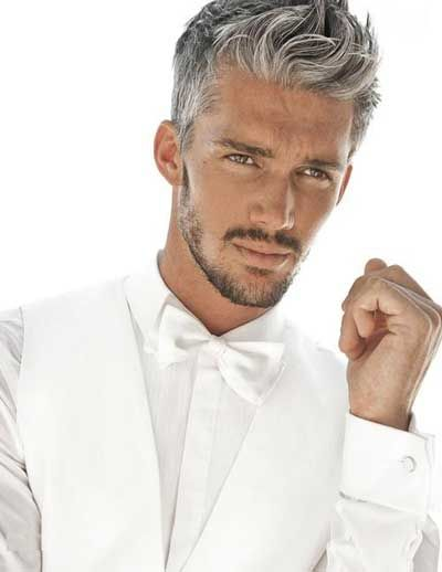 grey hair style for men