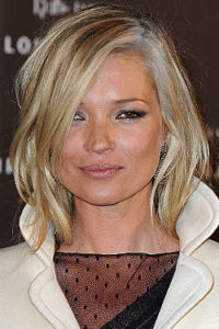Kate Moss combines grey roots and foils with blonde lengths