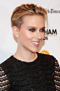 Scarlett Johansson shows us a great relaxed wet-look take on the style, which is very in fashion at the moment.