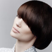Sleek brown bob