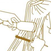 Ironing the straightened hair straight