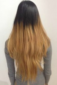 Image showing bad balayage and bad hair extensions.
