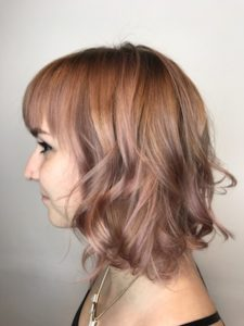 Strawberry/Rose Gold Balayage by Lily Jackson Hair & Makeup