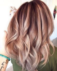 smoky rose gold hair