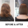 Before and after keratin smoothing