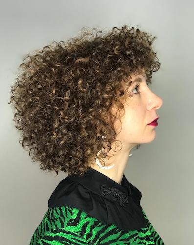 dry cutting curly hair