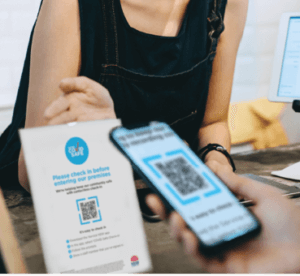 image showing check in using Service NSW app at Lily Jackson Hairdressing