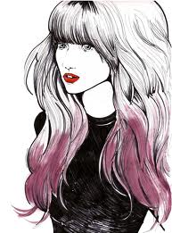 Balayage Ombre Hair Illustration