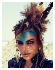 warrior chic makeup and fashion