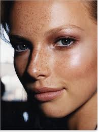 Fresh Faced Satin Contoured Monotone Make Up with Freckles